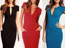 vestidos com decote V
