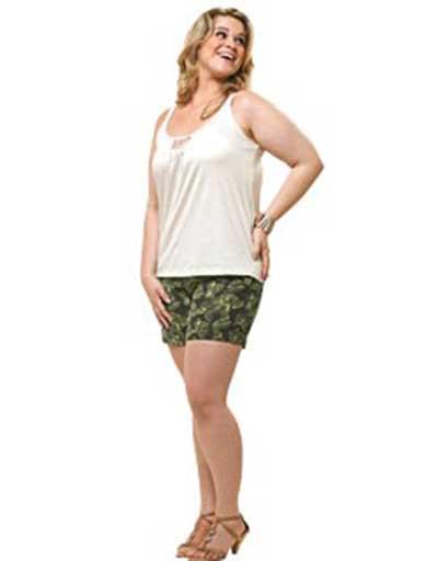 dicas de shorts para gordinhas