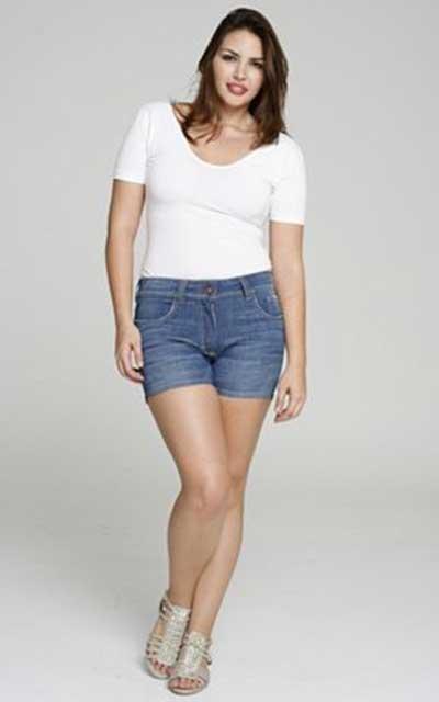 b0dbe82e6 Shorts para Gordinhas da Moda Plus Size  Fotos e Modelos