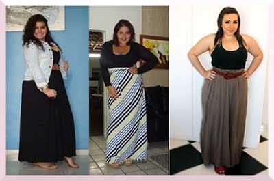 fotos de modelos de saias longas