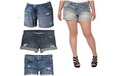 shorts da moda plus size