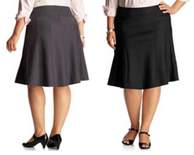 sugestões de saias para gordinhas
