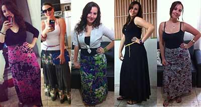 saias longas plus size
