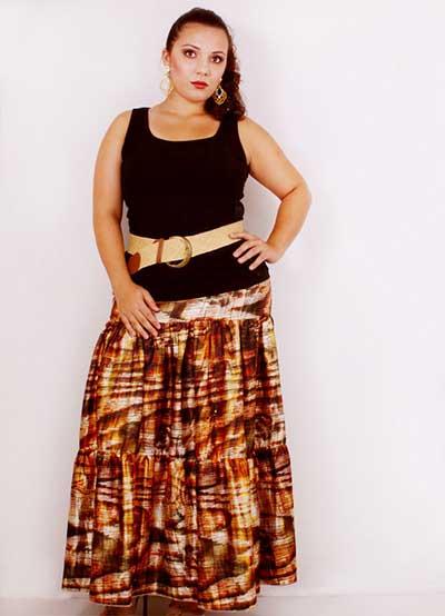 saias longas da moda plus size