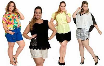 tendências plus size: shorts