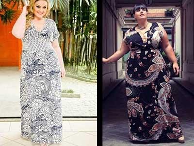 fotos de vestidos longos plus size