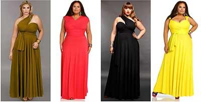 imagens de vestidos longos plus size