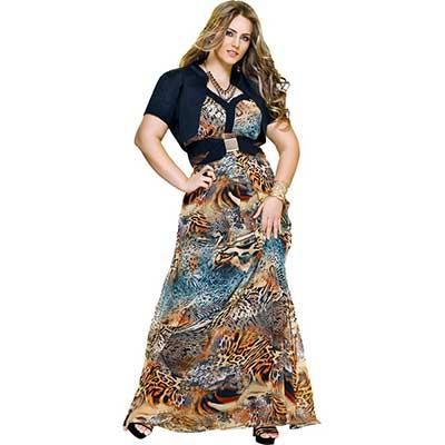 modelos de vestidos longos plus size