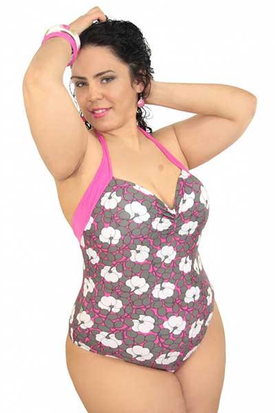 a8237637d 45 Maios Plus Size da Moda Praia Feminina para Gordinhas