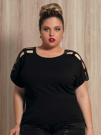 Blusas Plus Size Da Moda Feminina