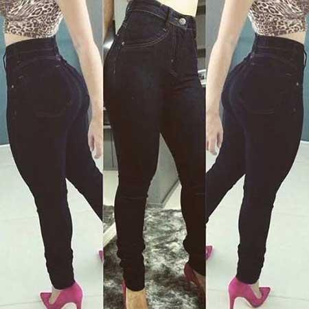 calças cintura alta plus size