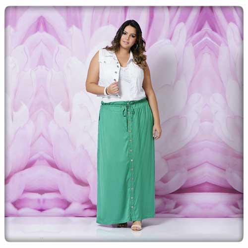 modelos de saias plus size