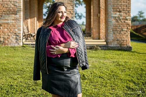 Jaqueta de Couro Plus Size